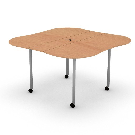 Cad 3D Free Model HermanMiller  intersect_portfolio_butterfly_table
