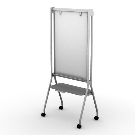 Cad 3D Free Model HermanMiller  intersect_portfolio_mobile_easel