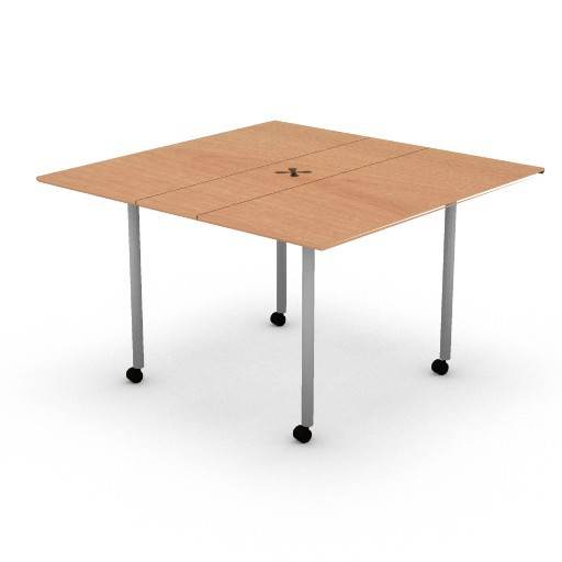 Cad 3D Free Model hermanmiller  intersect_portfolio_square_table_48w