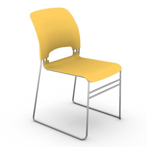 Cad 3D Free Model hermanmiller  limerick_stacking_chair