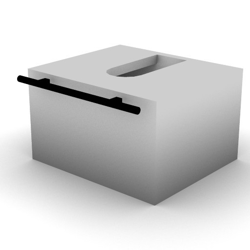 Cad 3D Free Model idealstandard Accessori  mobile_incasso2