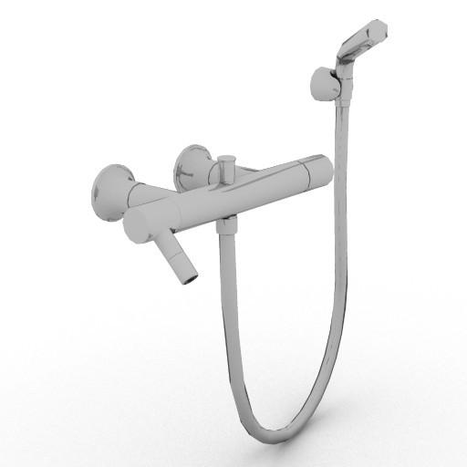 Cad 3D Free Model idealstandard Accessori  saliscendi