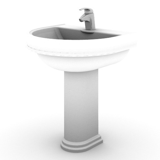 Cad 3D Free Model idealstandard Lavabi  calla_lavabo_col