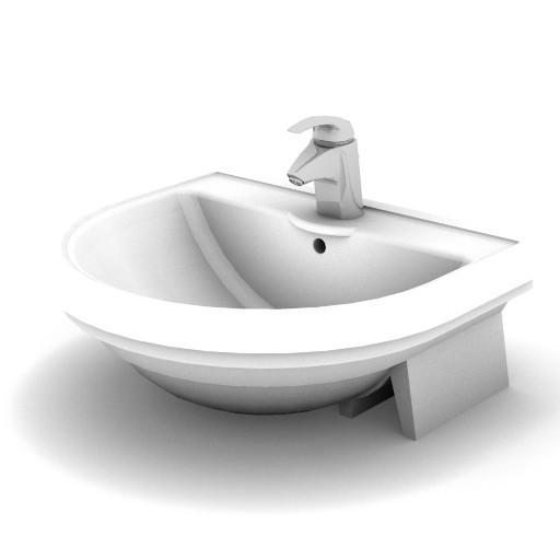 Cad 3D Free Model idealstandard Lavabi  calla_lavabo_semicol