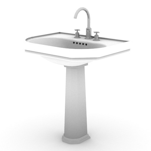 Cad 3D Free Model idealstandard Lavabi  classic_lavabo