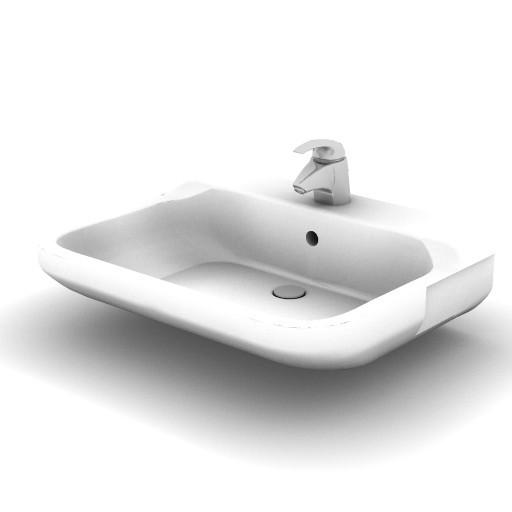Cad 3D Free Model idealstandard Lavabi  conca_lavabo