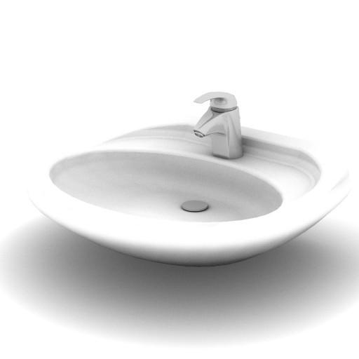 Cad 3D Free Model idealstandard Lavabi  ellisse_lavabo
