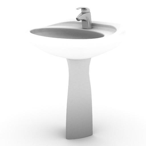 Cad 3D Free Model idealstandard Lavabi  ellisse_lavabo_col