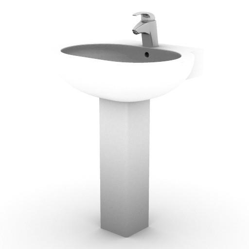 Cad 3D Free Model idealstandard Lavabi  linda_t0116