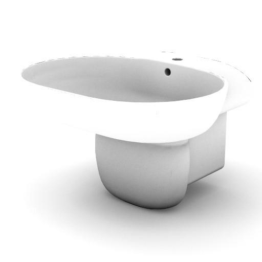Cad 3D Free Model idealstandard Lavabi  lirica_t0869