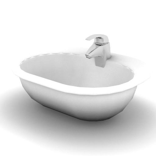 Cad 3D Free Model idealstandard Lavabi  tonic_lavabo
