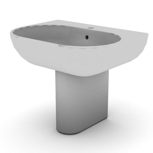 Cad 3D Free Model idealstandard Lavabi  tonic_semicolonna1