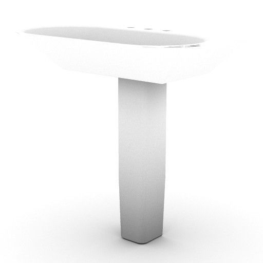 Cad 3D Free Model idealstandard Lavabi  tonica_lavabo_colonna