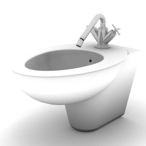 Cad 3D Free Model idealstandard Sanitari  celia_bidet