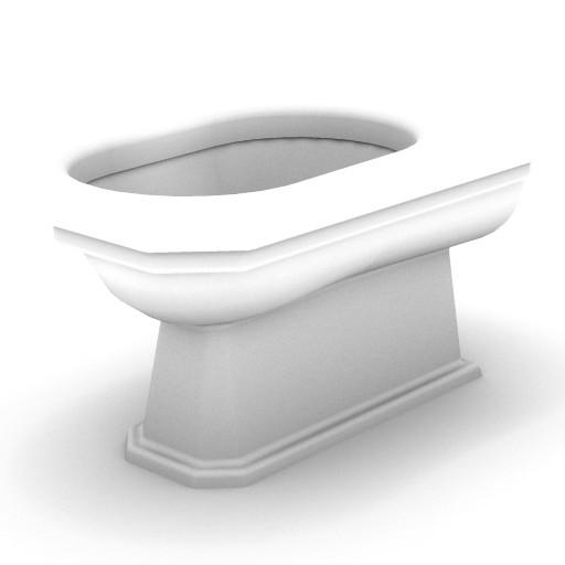 Cad 3D Free Model idealstandard Sanitari  classic_vaso