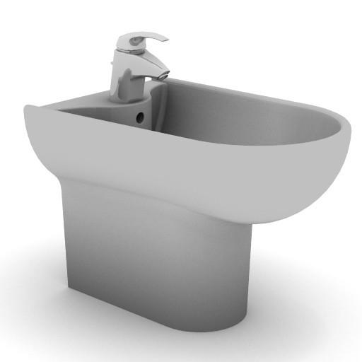 Cad 3D Free Model idealstandard Sanitari  diagonal_t5044