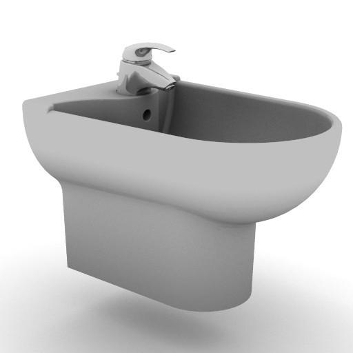 Cad 3D Free Model idealstandard Sanitari  diagonal_t5046
