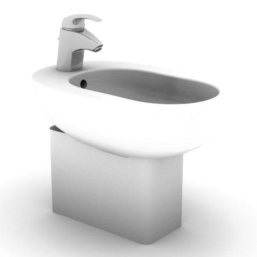 Cad 3D Free Model idealstandard Sanitari  linda_t5070