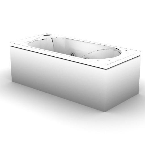 Cad 3D Free Model idealstandard Vasche  brilia_idro_t8440