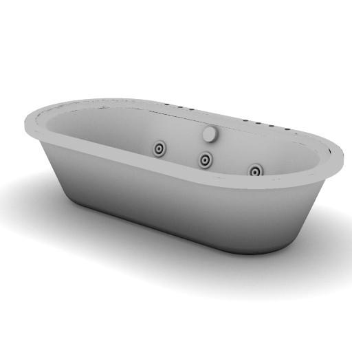 Cad 3D Free Model idealstandard Vasche  calla_idro_t8391