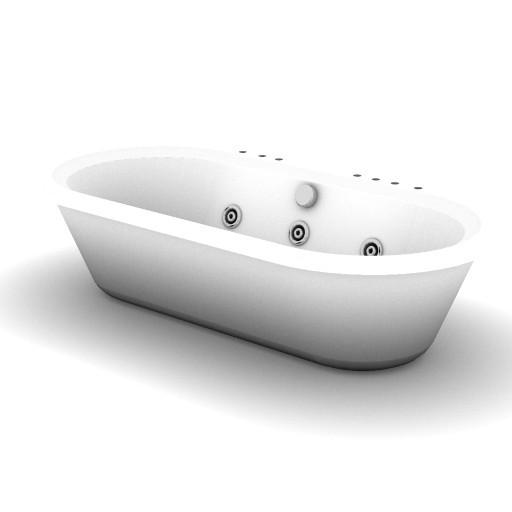 Cad 3D Free Model idealstandard Vasche  calla_vasca_hydro