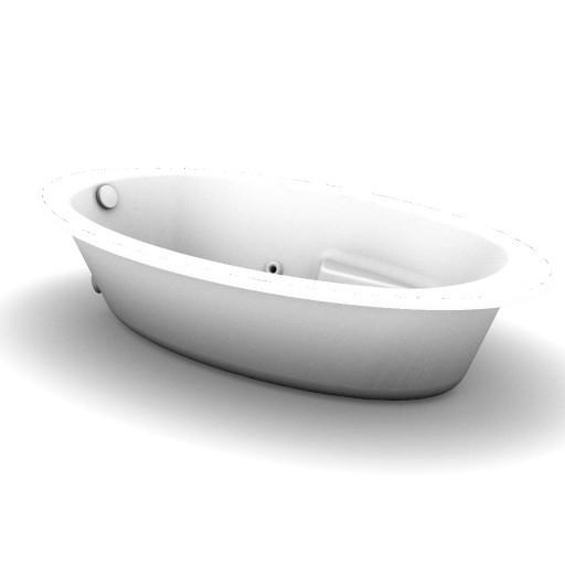 Cad 3D Free Model idealstandard Vasche  colombe_idro_t8707