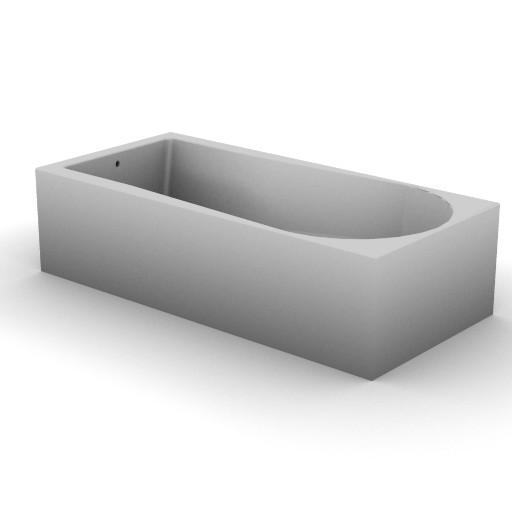 Cad 3D Free Model idealstandard Vasche  cuna_idromass