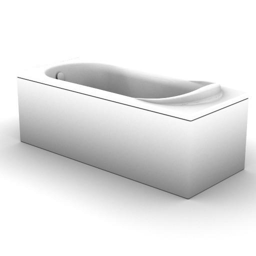 Cad 3D Free Model idealstandard Vasche  quanta_t8338