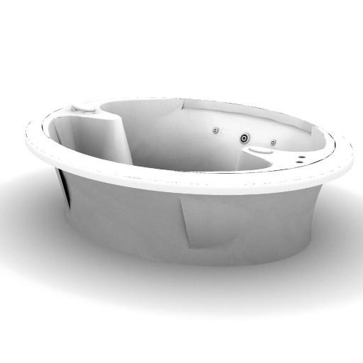Cad 3D Free Model idealstandard Vasche  yin_yang_idro_l0442