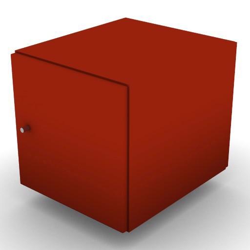 Cad 3D Free Model ikea Expedit  a_dx