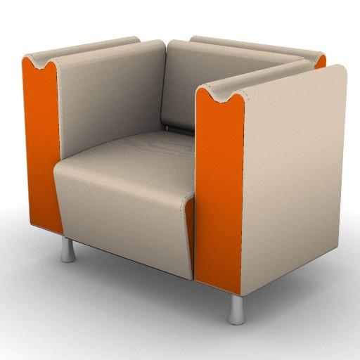 Cad 3D Free Model Moroso  m_sofa_001