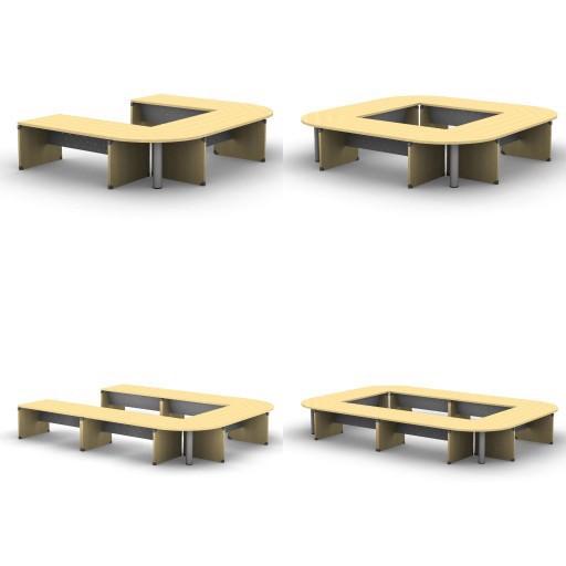 Cad 3D Free Model quadrifoglio Tavoli_riunione  legno