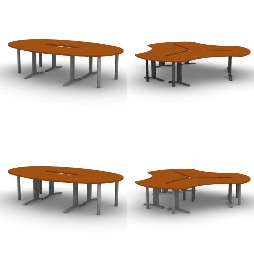 Cad 3D Free Model quadrifoglio Tavoli_riunione  melaminico