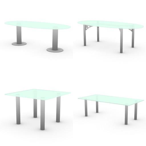 Cad 3D Free Model quadrifoglio Tavoli_riunione  vetro