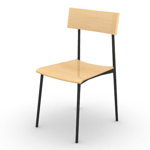 Cad 3D Free Model ryan  carlo_chair