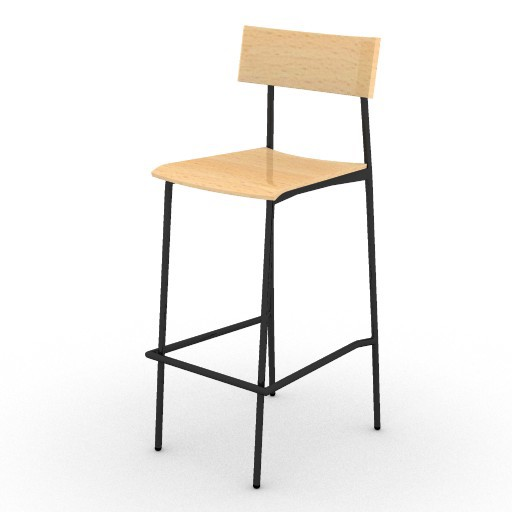 Cad 3D Free Model ryan  carlo_stool_1