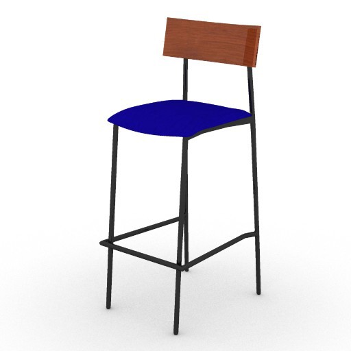Cad 3D Free Model ryan  carlo_stool_2
