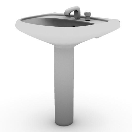 Cad 3D Free Model sottini  palazzo_lavabo