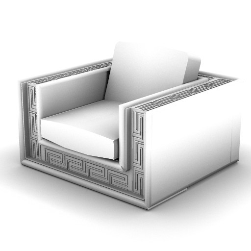 Cad 3D Free Model Versace_home  soft_couture_armchair