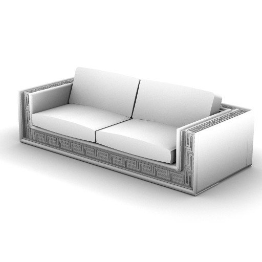 Cad 3D Free Model Versace_home  soft_couture_sofa