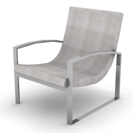 Cad 3D Free Model Versace_home  unique_armchair