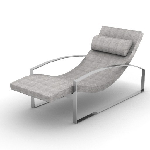 Cad 3D Free Model Versace_home  unique_chaiselongue