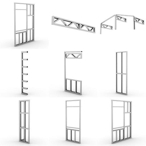 Cad 3D Free Model vima  composizioni