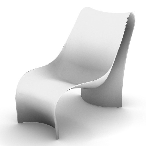 Cad 3D Free Model zanotta  brasilia_chaise_longue