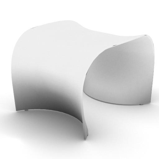 Cad 3D Free Model zanotta  brasilia_pouf