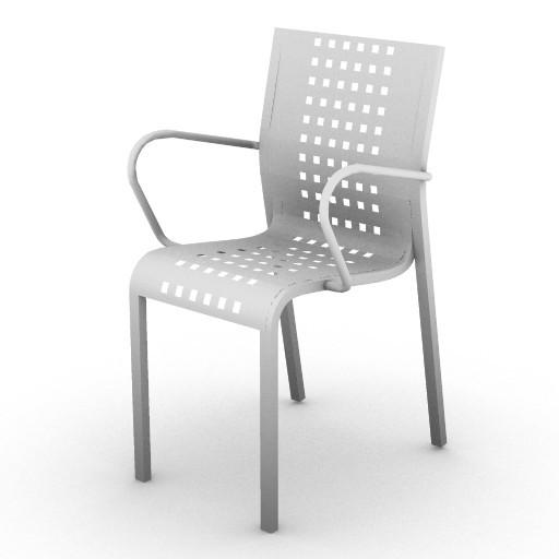 Cad 3D Free Model zanotta  mirandolina_sedia_bracc