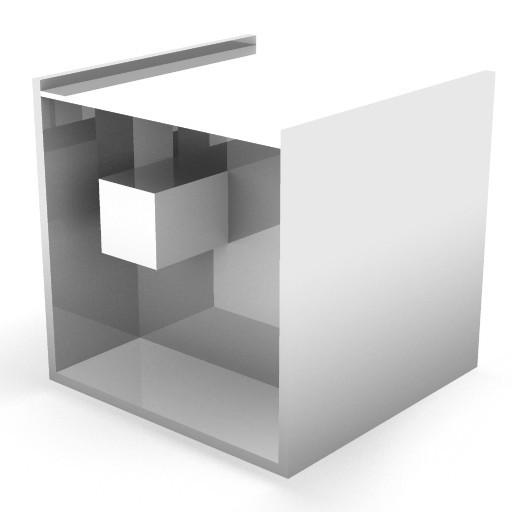Cad 3D Free Model zanotta  segreto_tavolino