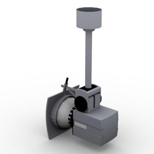 Cad 3D Free Model zumtobel  prio_faretto_sospeso